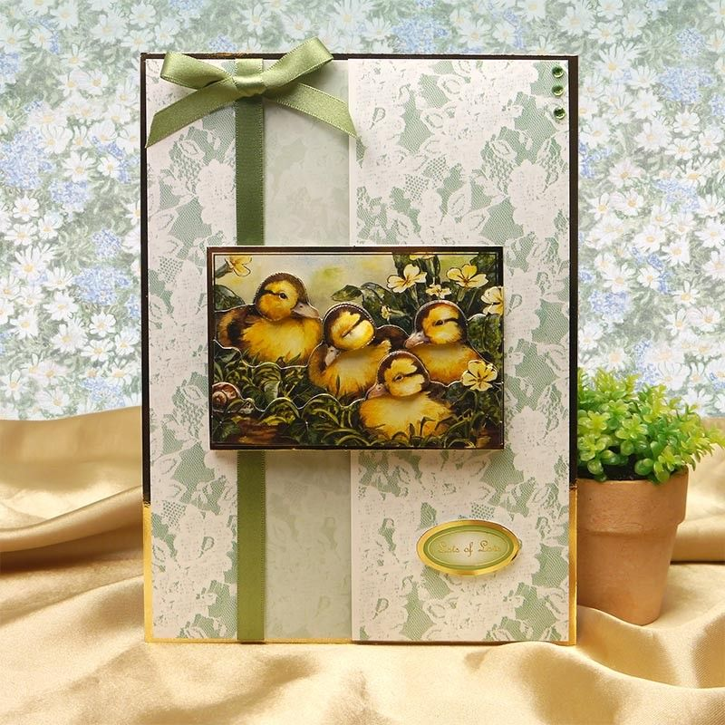 Image for Feathered Family & Little Ducklings Designer Decoupage Set