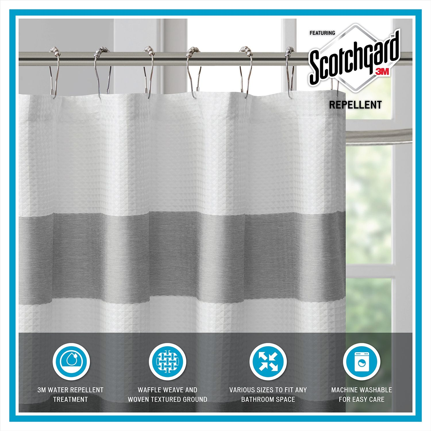 Madison Park Spa Shower Curtain Collection Affiliate Spa Ad
