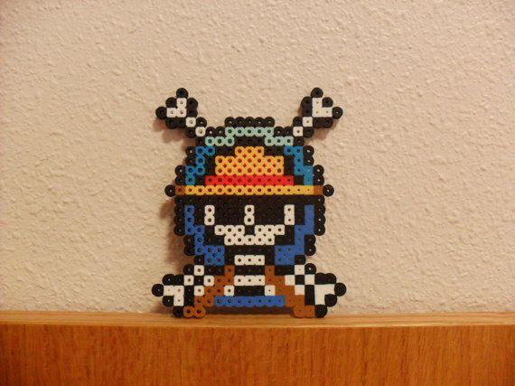 ne Piece Skull Pirate Logo Perler Beads by KawaiiLittlePresents