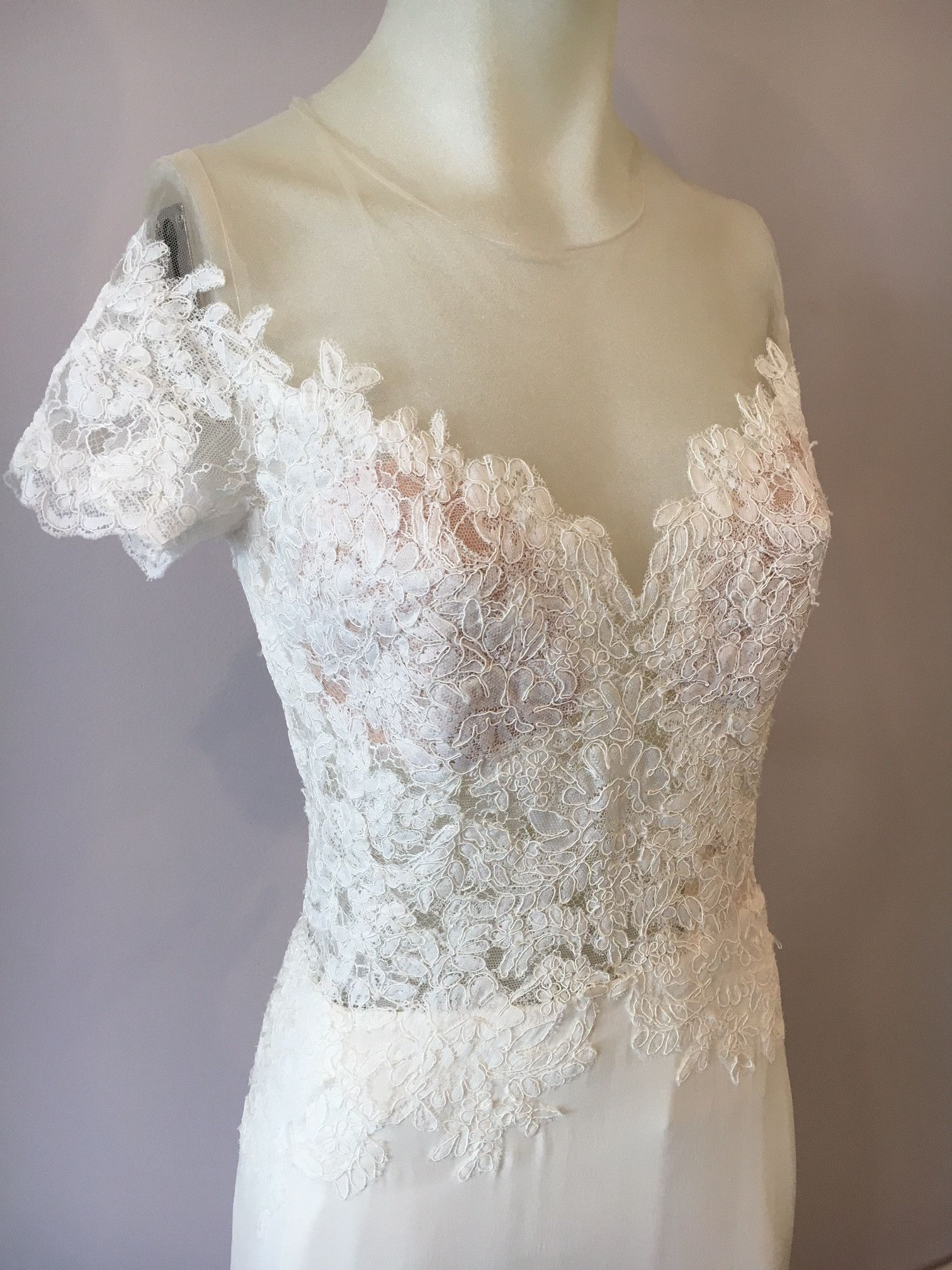 Watters Seaton is a romantic fit and flare gown! Chantilly