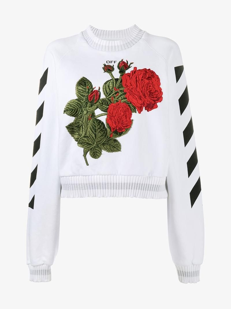 53f9c67472c1bf OFF-WHITE Rose-Embroidered Sweatshirt. #off-white #cloth # | Off ...