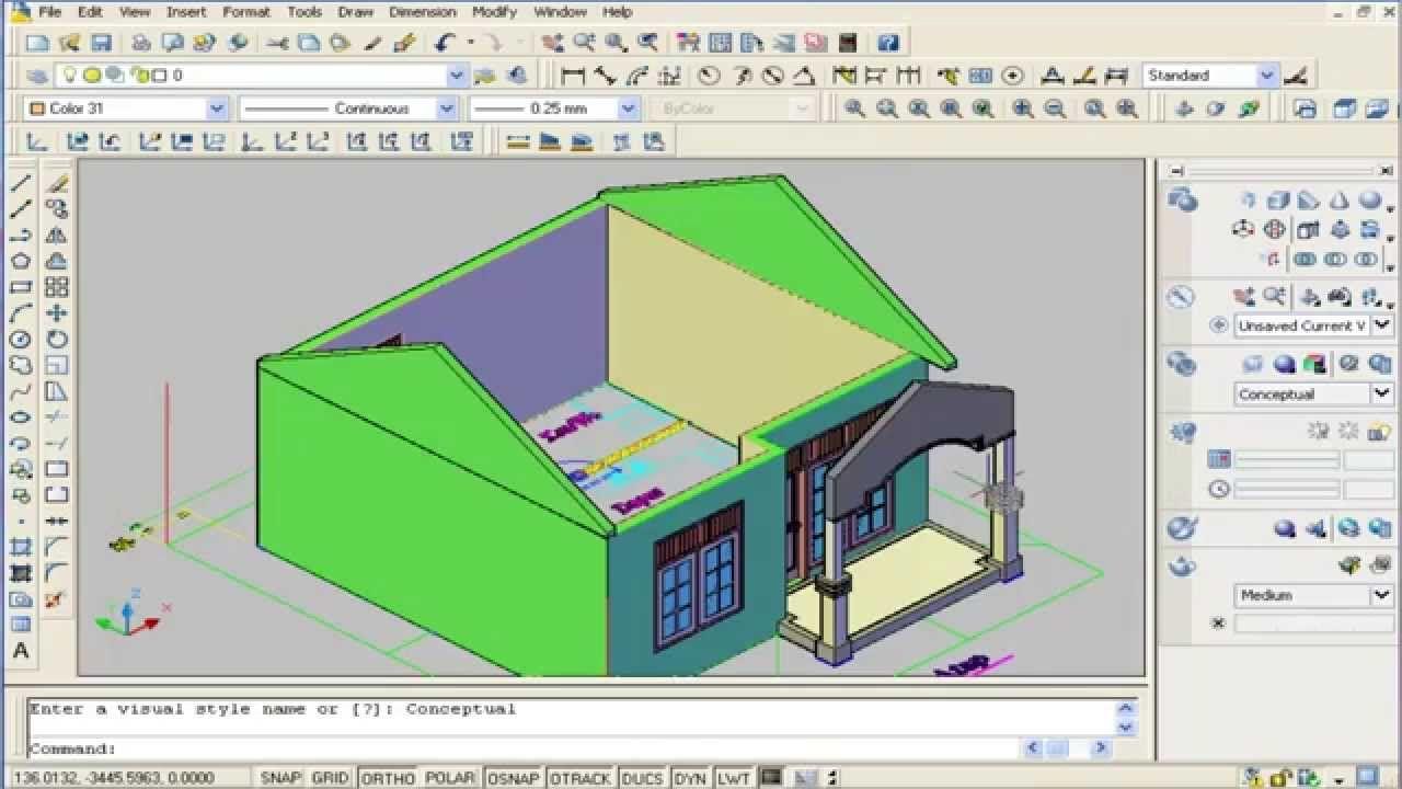 Membuat Ruang - Interior Modelling Auto CAD 3D