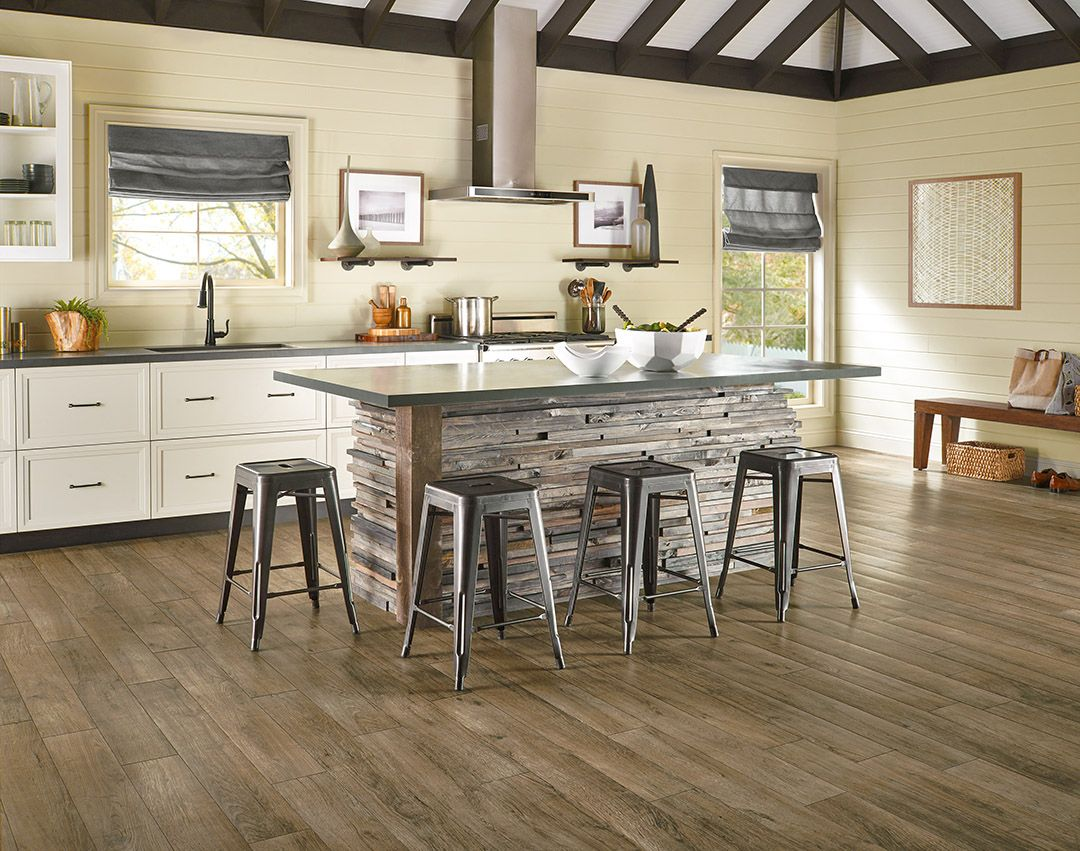 Beautiful distressed wood flooring Luxury Vinyl Plank