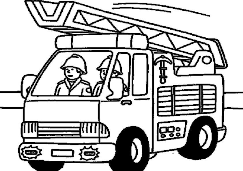 Feuerwehr ausmalbilder - Ausmalbilder für kinder