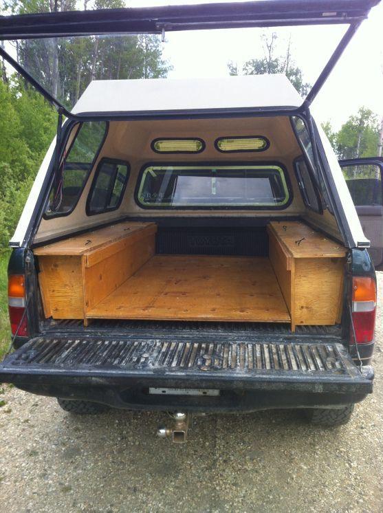 Sleeping platform truck camping inspiration pinterest toyota truck camping sciox Choice Image