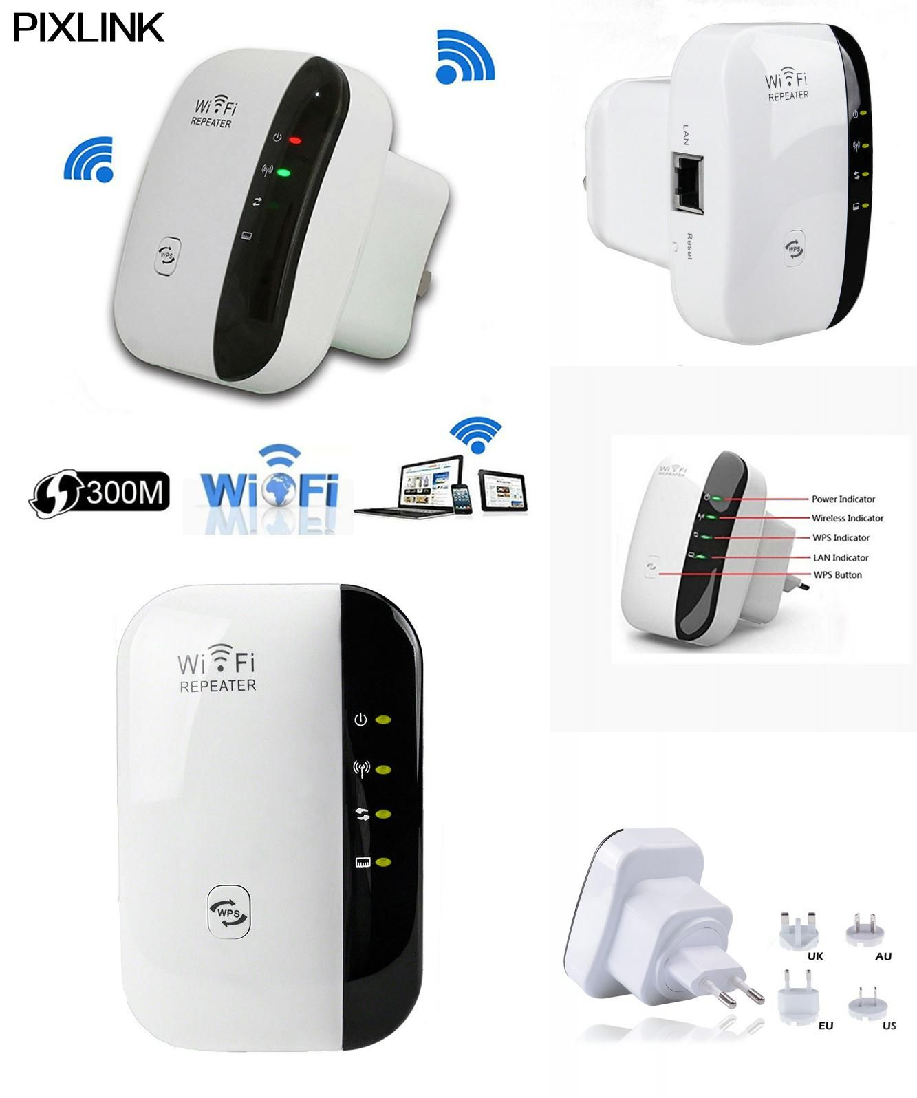 [Visit to Buy] PIXLINK Wireless Wifi Repeater 300mbps Network Extender Wifi Router Repeater802.11n b/g Signal Boosters Repetidor Wps Encryption #Advertisement