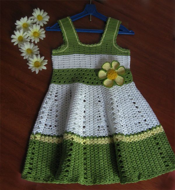Crochet Knitting Handicraft: Crochet dress for girl | artesanato ...