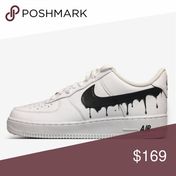 Nike Air Force One Brand New Custom White and black Drip