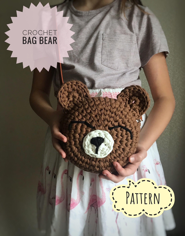 Crochet Bag Pattern Pdf Kids Bag Toddler Animal Purse Crochet Etsy Crochet Bag Pattern Crochet Octopus Crochet Pattern