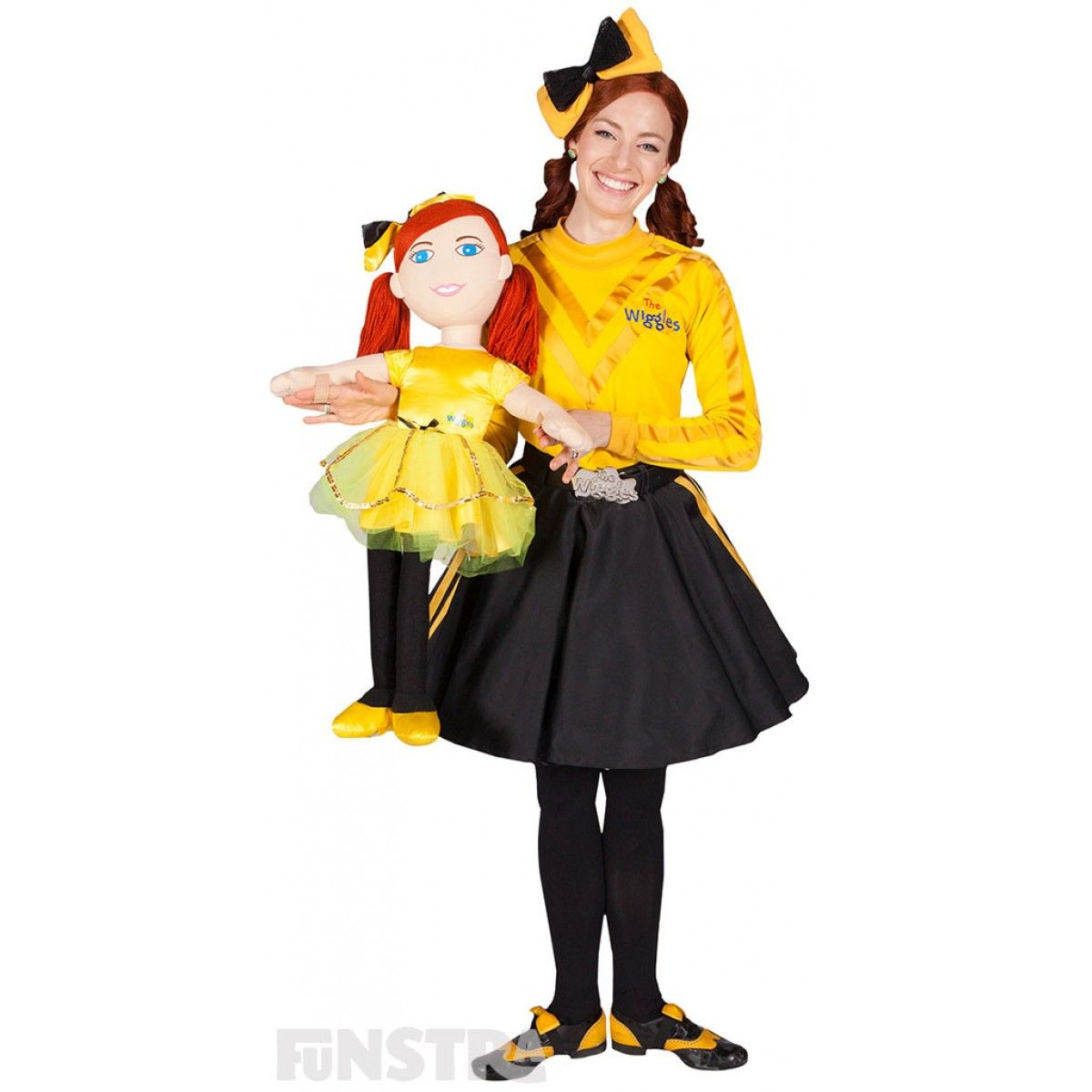 bf0b108346cde Yellow Wiggle, Emma Watkins from The Wiggles, with the Dance With Me Emma  Ballerina Doll, available from Funstra