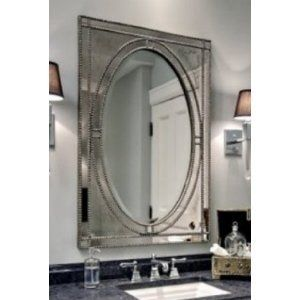 Amazon Extra Large VENETIAN Rectangle Wall Mirror Beaded Vanity Mantle Framed Oval Luxe