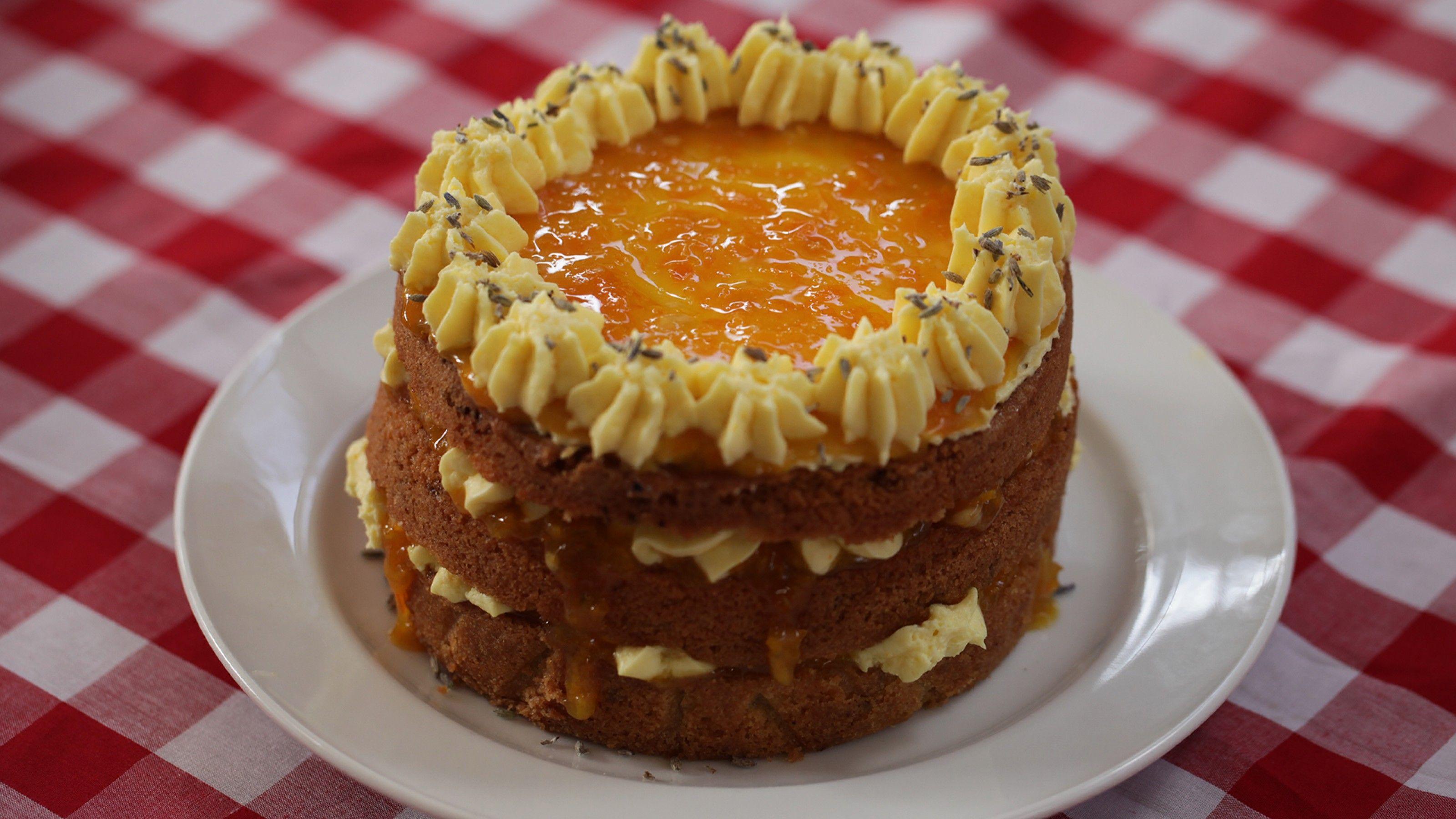 Orange Lavender Tea Cake Gf The Great Kiwi Bake Off Tvnz 2