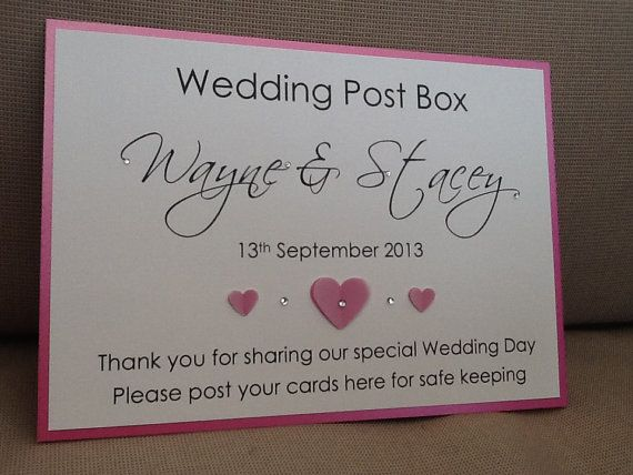Wedding Post Box Sign Handmade By SarahLindsayDesigns On Etsy GBP375