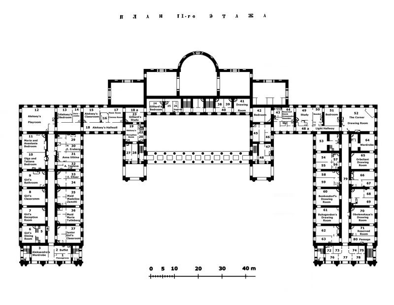 Alexander palace second floor plan all kinds of homes for Palace house plans