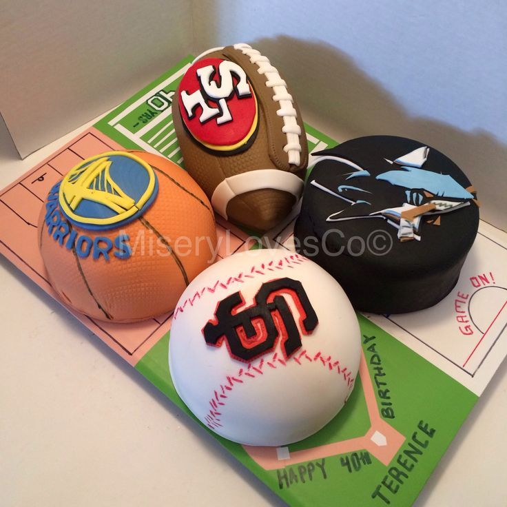 Bay Area Sports Birthday Cake Sports Birthday Cakes Sports Birthday Bday