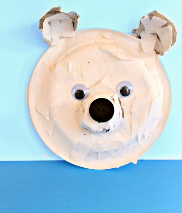 This Adorable Paper Plate Polar Bear Craft is so much more than cute. The torn paper art technique used is incredible for strengthening little hands for ...  sc 1 st  Pinterest & Torn-Paper Polar Bear - cute cute cute | Pinterest | Bear crafts ...