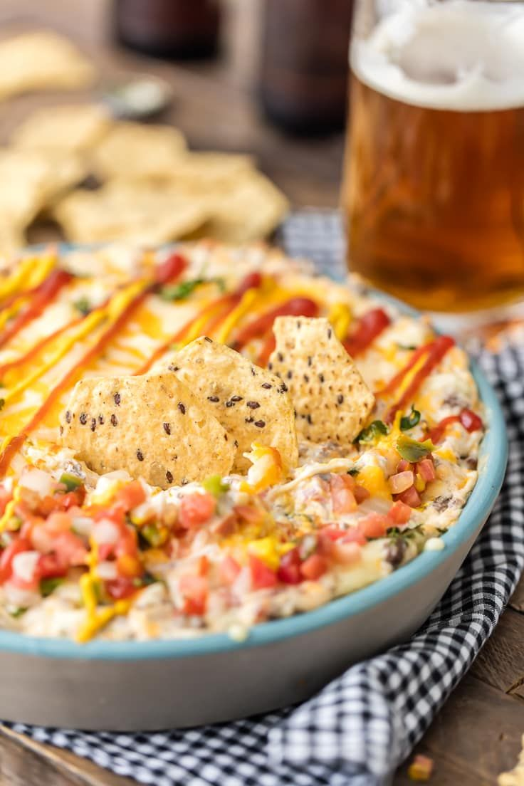 Smoked Gouda and Bacon Burgers with Barbecue Sauce Recipe Food Wine This American Bacon Cheeseburger Dip The Cookie Rookie is a better for your Breakfast made with awesom...