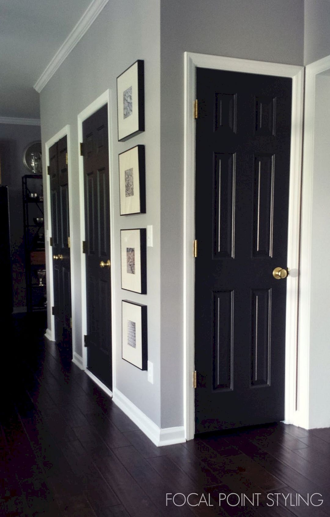 60 Most Popular Focal Points Ideas To Build A Beautiful Interior Freshouz Com Black Interior Doors Painting Interior Doors Black Painted Interior Doors
