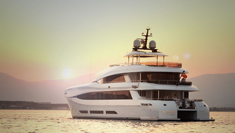 Outdoor Spaces | Take a Photo Tour of the 111-Foot Quaranta Superyacht Catamaran #RobbReport #Yachts #superyacht