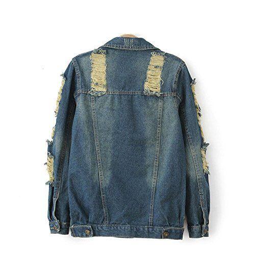 Vshop-2000 Women's Street Style Holes Demin Jeans Jacket Coat  Vshop-2000 Women's Street Style Holes Demin Jeans Jacket Coat Material: Denim Size:S/M/L Material: Denim Size:S/M/L Size S- Bust:86cm Shouler:36cm Length: 61cm Sleeve:55cm Material: Denim Size:S/M/L Material: Denim Size:S/M/L Size S- Bust:86cm Shouler:36cm Length: 61cm Sleeve:55cm Size M- Bust:90cm Shouler:38cm Lenght:62cm Sleeve:56cm Material: Denim Size:S/M/L Material: Denim Size:S/M/L Size S- Bust:86cm Shouler:36cm Len..