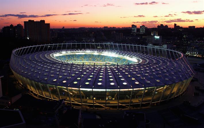Download Wallpapers Olympic Stadium Kiev Ukraine Football Stadium K Sports Arena