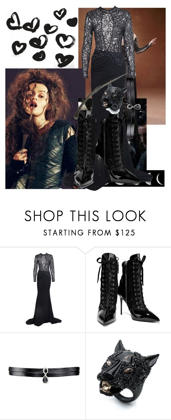 """""""Bellatrix outfit"""" by mymusicrocks ❤ liked on Polyvore featuring Giuseppe Zanotti, Fallon and Alexis Bittar"""