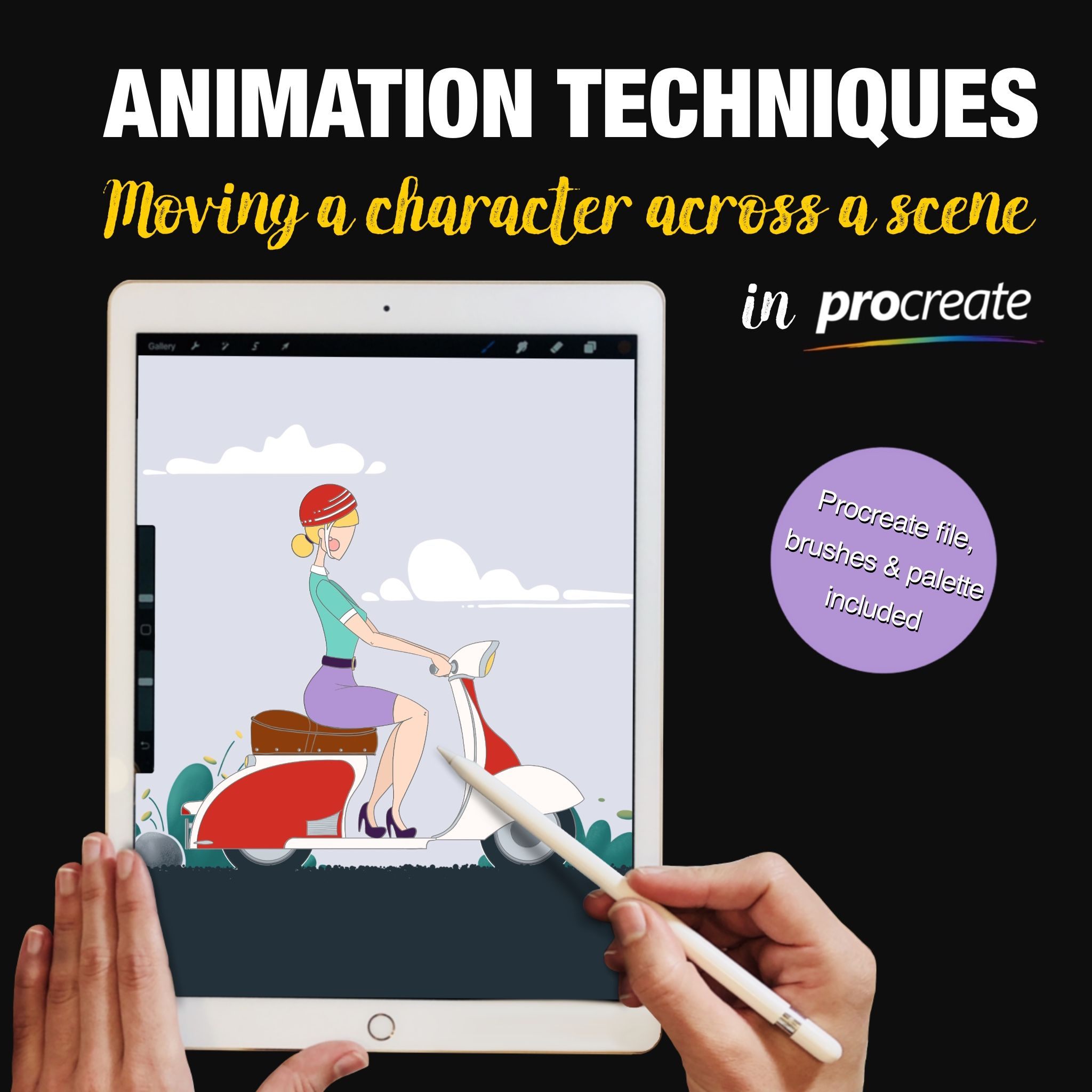Animation Techniques in Procreate Moving a Character
