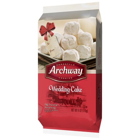 Archway Wedding Cake Cookies, Holiday Limited Edition, 6