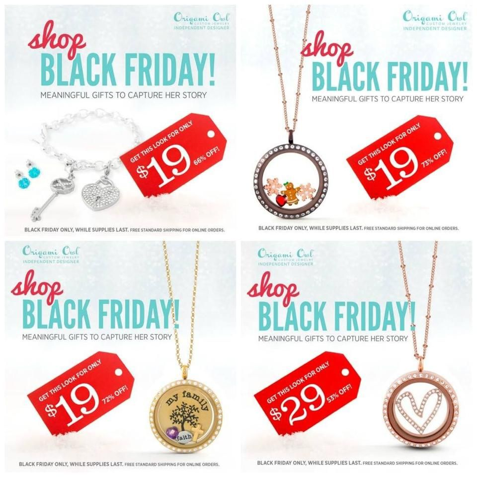 Deal starts midnight tonight (November 28) through noon tomorrow (November 28) or while supplies last.  Free standard shipping on these items.  Order here http://tracyalbert.origamiowl.com/