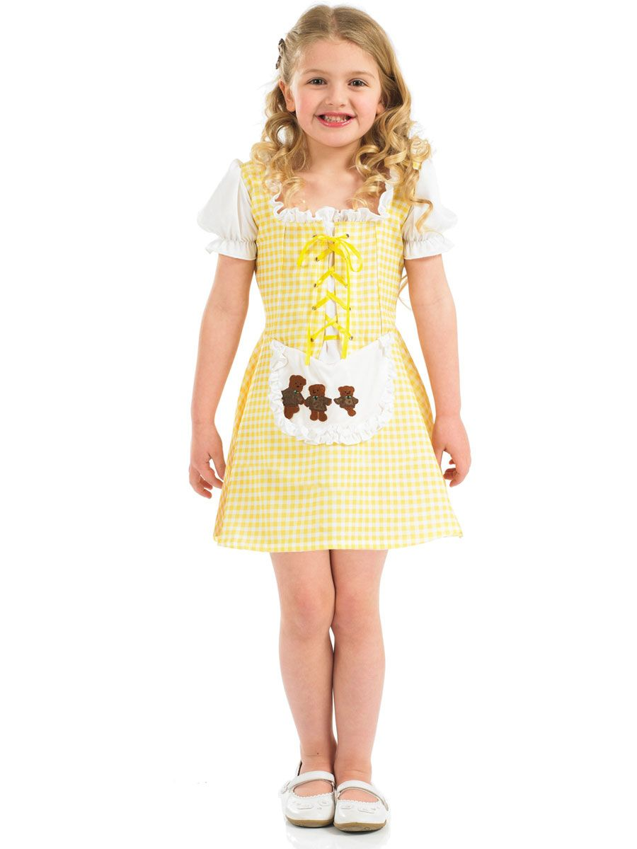 Child Goldilocks Fancy Dress Costume Fairytale Book Week Kids Girls Female Bears