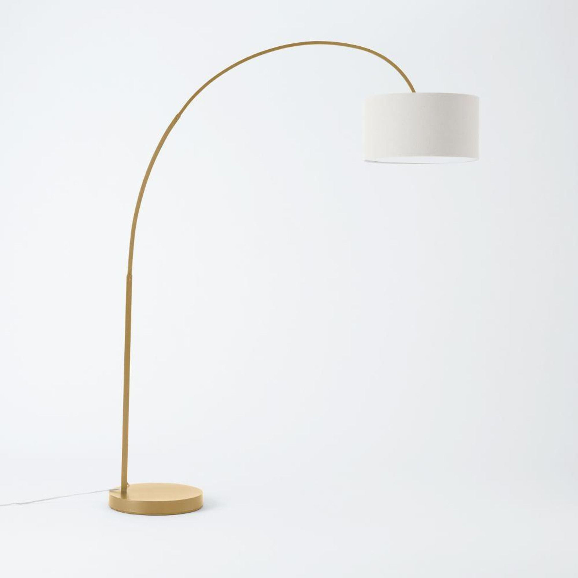 Overarching Linen Shade Floor Lamp in 2020 Overarching