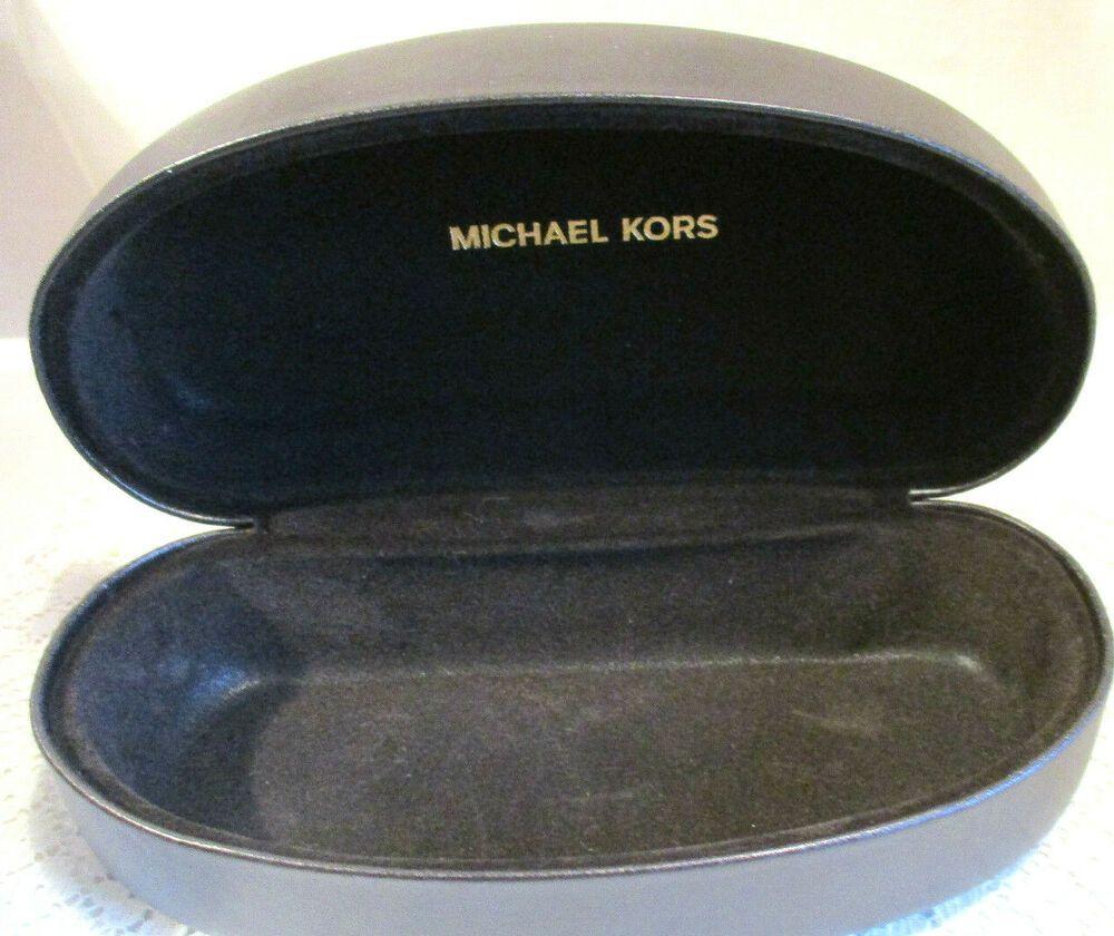 Michael Kors Black Clamshell Hard Sunglasses Glasses Case Michaelkors Michael Kors Black Michael Kors Glasses Case