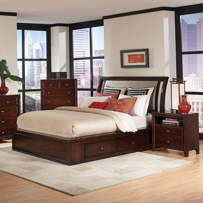 Nadine Upholstered Captainu0027s Bed - Brookstone Day bed makeover - ideen für schlafzimmer streichen