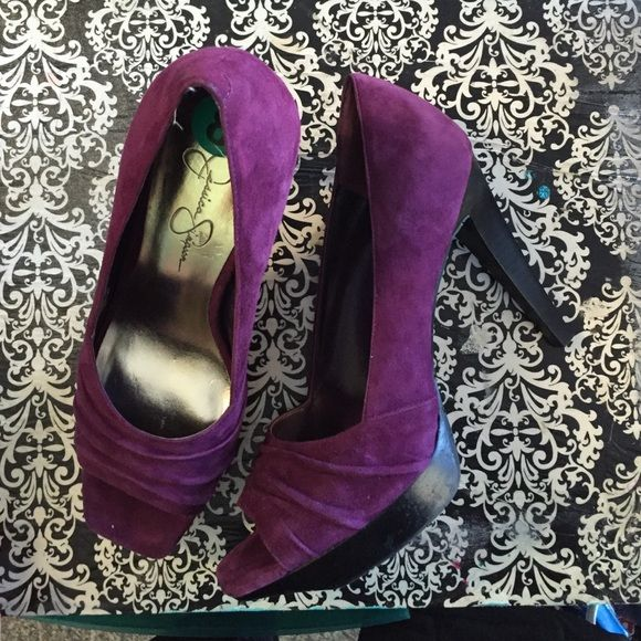 e4d26e074cc92 Jessica Simpson purple swede heels New Jessica Simpson Shoes Heels ...
