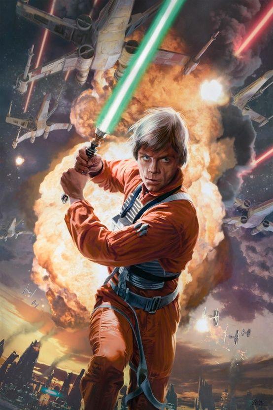 Luke Skywalker From 30 New Amazing Star Wars Illustrations