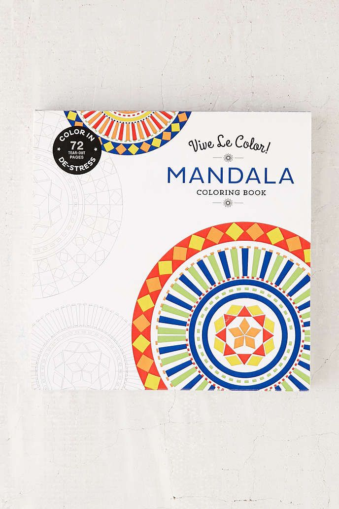 Vive Le Color Mandala Coloring Book By Abrams Noterie
