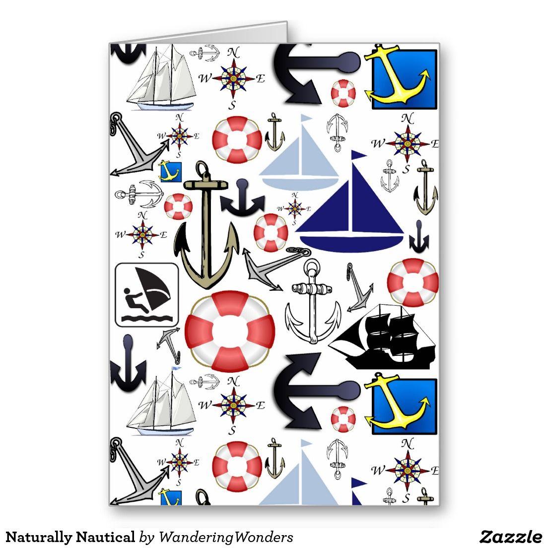 Naturally Nautical Greeting Cards (x3)