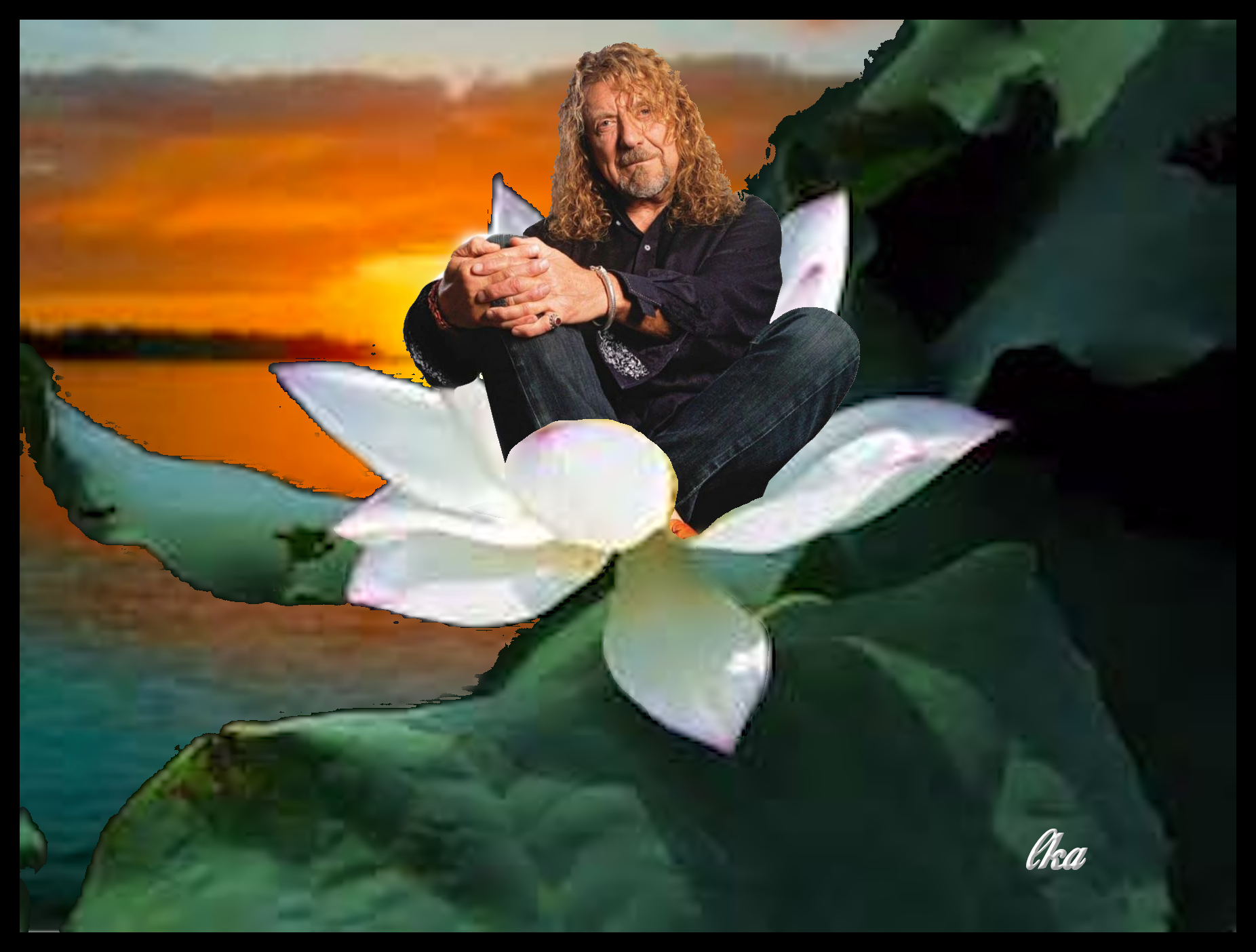 """Robert Plant """"Lotus"""" Collage' by Photoartist LisaKay Allen/PassionFeast"""