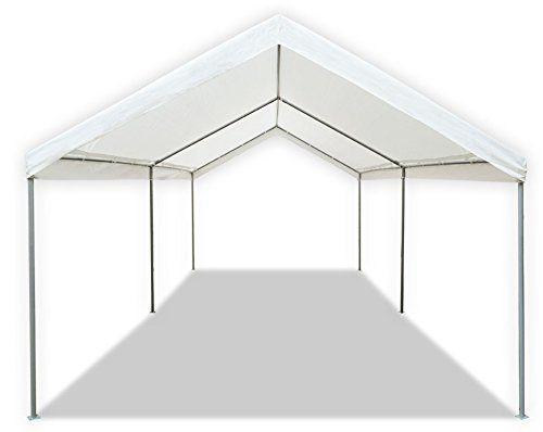 Amazon Com Caravan Canopy 10 X 20 Feet Domain Carport White Replacement Canopy Patio Lawn Garden Portable Shade Car Canopy Tent Carport Canopy