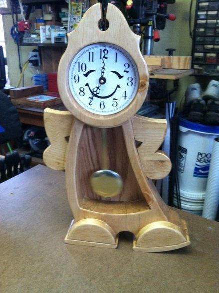 My First Dancing Clock For My First Grandson. Made With Ponderosa Pine And  Finished With Danish Oil And Poly.