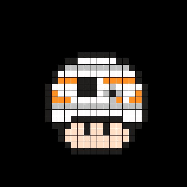 Bb 8 Star Wars Mushroom Perler Bead Pattern Pixel Art Pattern Pixel Art Perler Bead Patterns