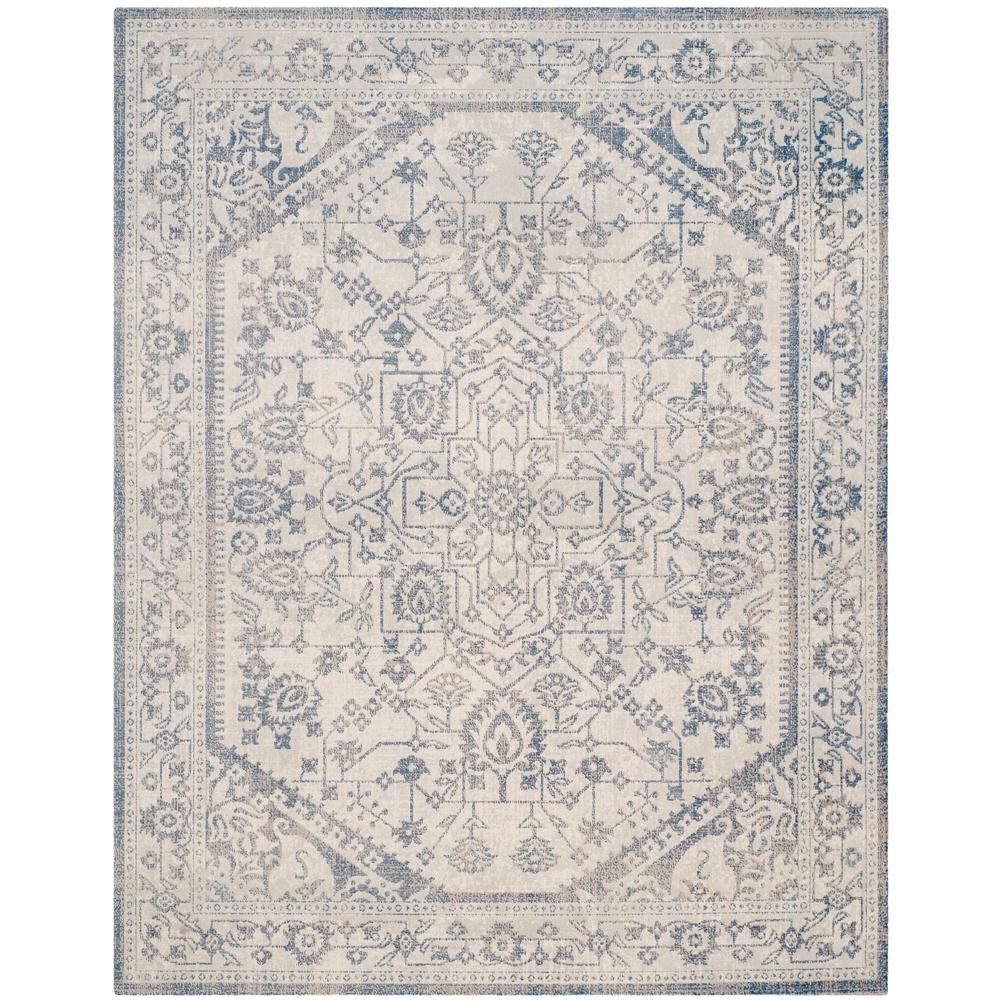 Safavieh Patina Light Gray Blue 9 Ft X 12 Ft Area Rug Ptn318c 9 The Home Depot Area Rugs Vintage Area Rugs Grey Area Rug
