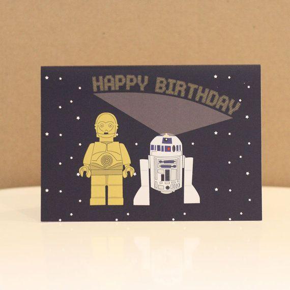 C3po r2d2 lego star wars birthday card legos birthdays and etsy lego starwars c3po r2d2 birthday card 250 with free uk bookmarktalkfo Choice Image