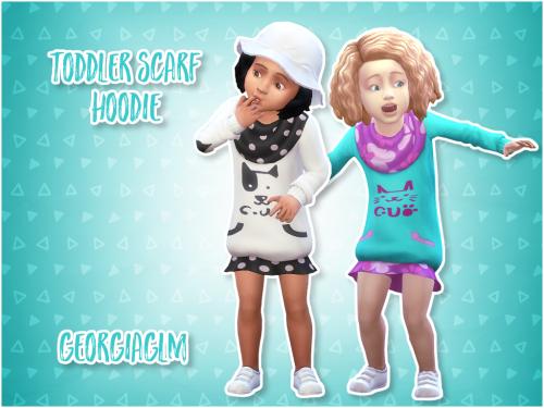 Toddler Scarf Hoodie  950a76b23