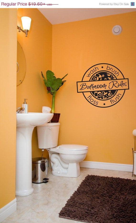 Bathroom Rules Design Vinyl Lettering Interior Exterior Available Bathroom Decor Bathroom Saying Bathroom Wall Design Wash Vinyl