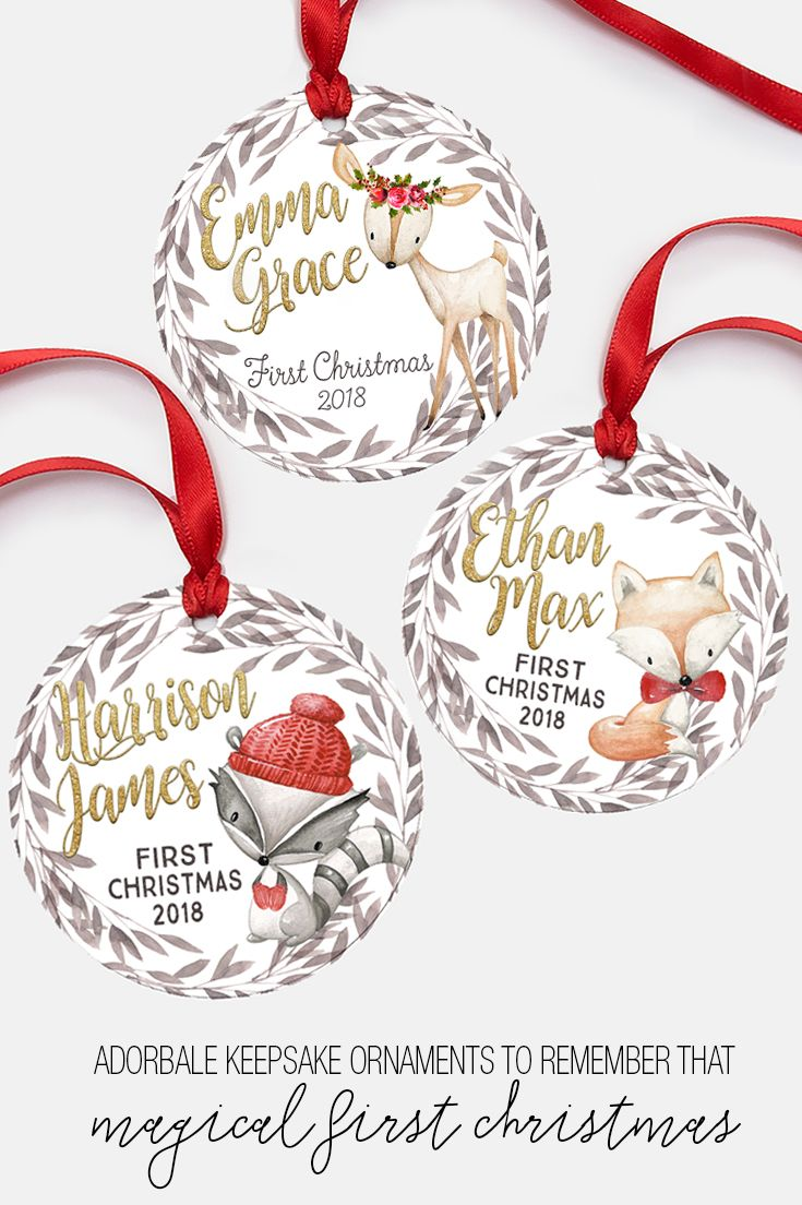 Baby Ornament,First Christmas Ornament,Personalized Ornament,Christmas Decor,Holiday Decor,New Baby Gift,Newborn Gift,Grand baby,Christmas