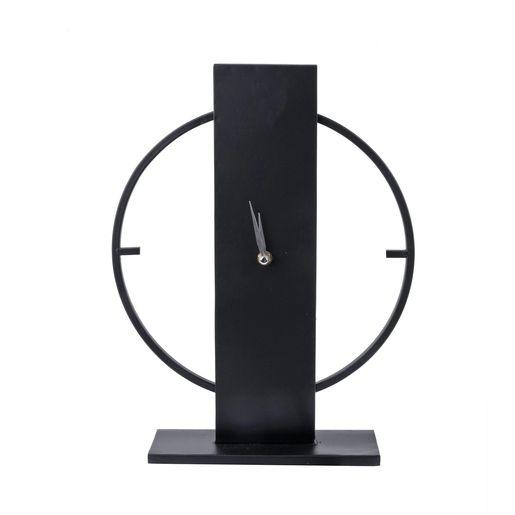 Laissez-vous séduire par l'élégance de cette horloge à poser en métal. Son design épuré s ...