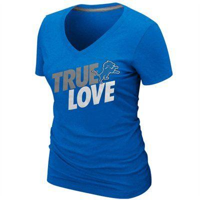 Hot Detroit Lions Ladies True Love T Shirt   NFL Womens Apparel  for sale