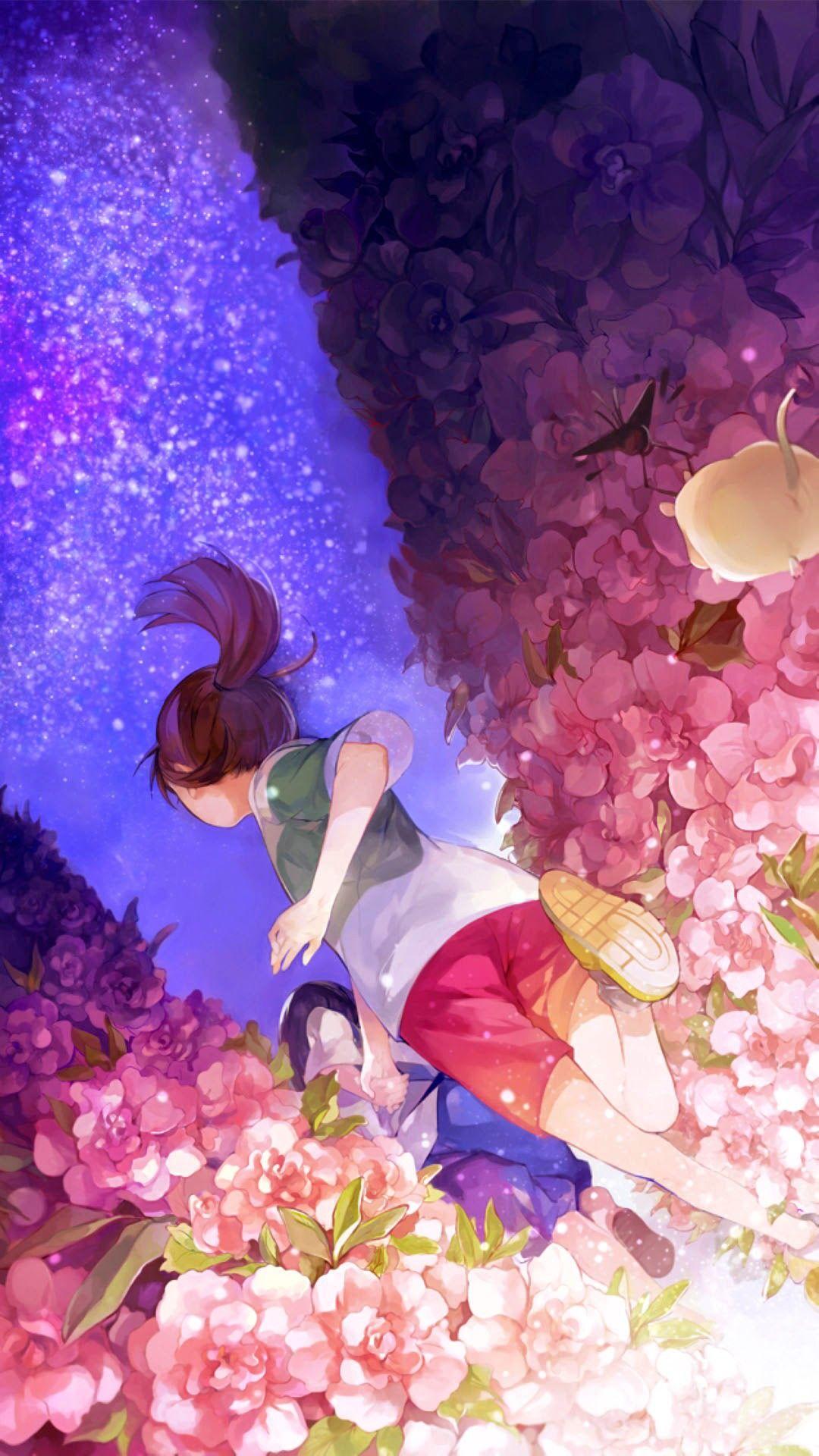 ハクと千尋 Haku Chihiro ジブリ イラスト 幻想的なイラスト イラスト 綺麗