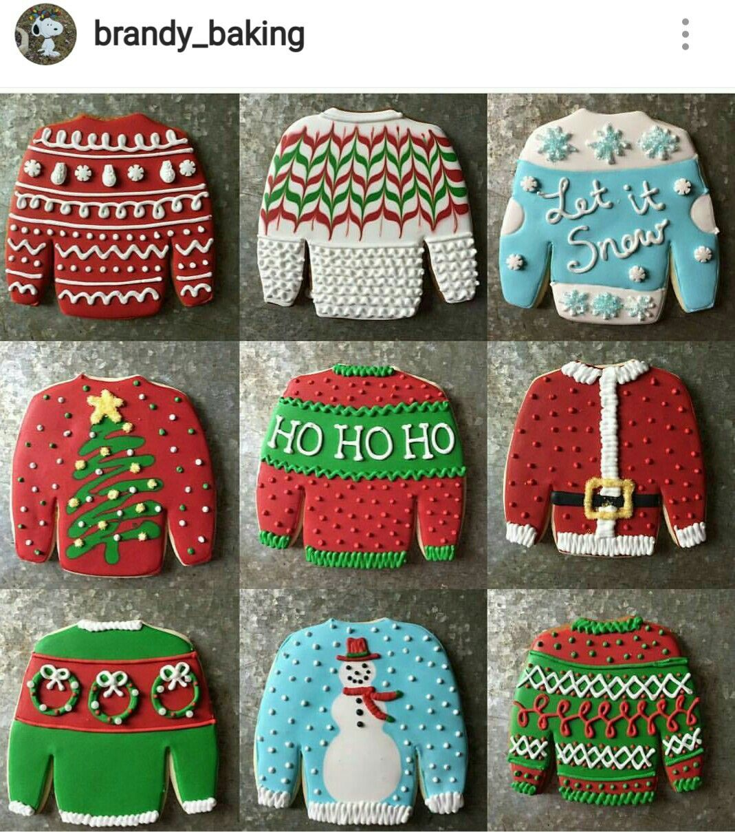 Ugly Sweater Cookies Christmas Blue Green Red In 2019 Christmas
